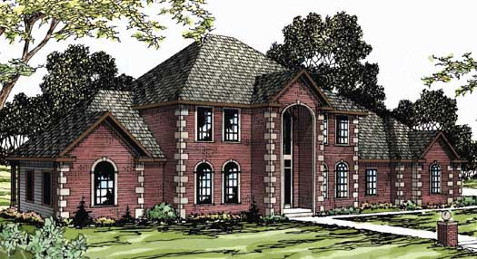 European Style House Plans Plan: 17-331