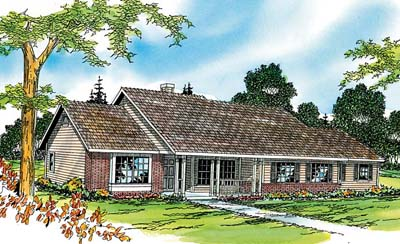 Ranch Style Home Design Plan: 17-333