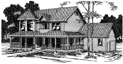 Country Style Floor Plans Plan: 17-334