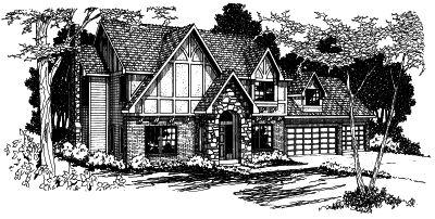 Tudor Style Floor Plans Plan: 17-335