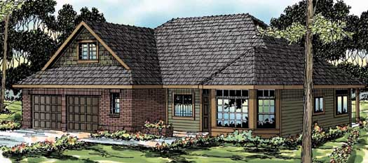 Traditional Style Home Design Plan: 17-336