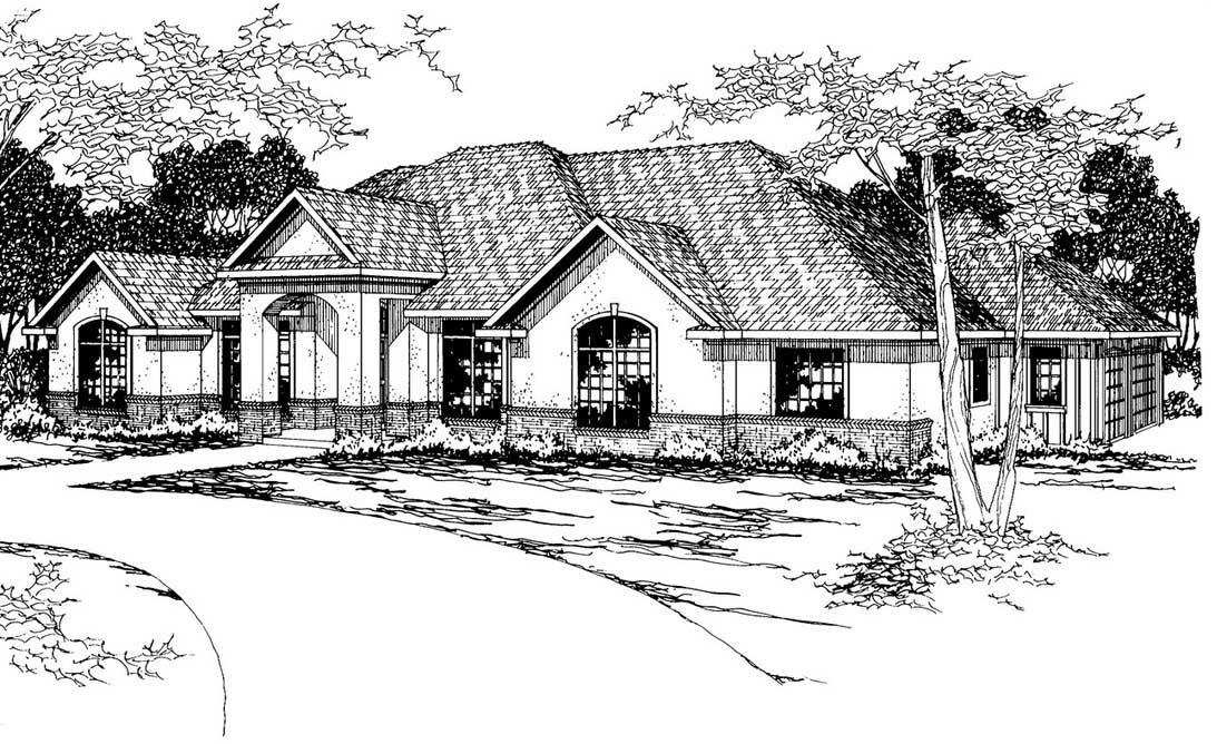 Southwest Style Floor Plans Plan: 17-339