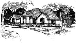 Southwest Style Home Design Plan: 17-339