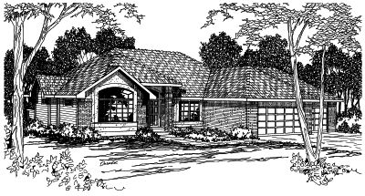 Northwest Style Home Design Plan: 17-340