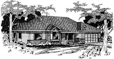 Ranch Style House Plans Plan: 17-341