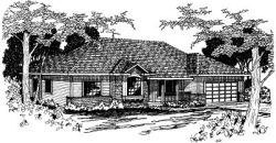 Ranch Style Home Design Plan: 17-341