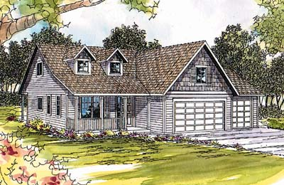 Country Style Home Design Plan: 17-344