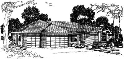 Traditional Style Floor Plans Plan: 17-345