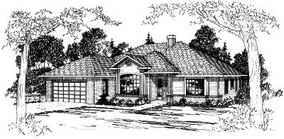 Traditional Style Home Design Plan: 17-349
