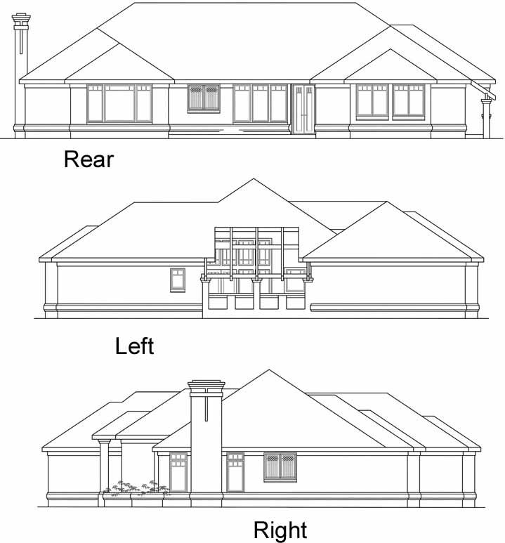 Rear Elevation Plan: 17-350