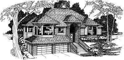Contemporary Style Home Design Plan: 17-351