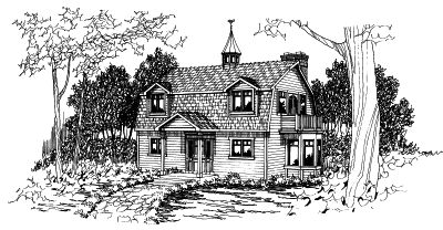 Hampton Style House Plans Plan: 17-354