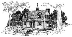 Hampton Style House Plans Plan: 17-354