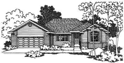 Northwest Style Home Design Plan: 17-355