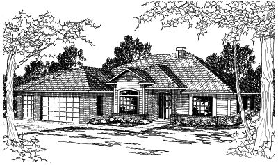 Traditional Style Home Design Plan: 17-358
