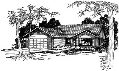 Traditional Style Home Design Plan: 17-362