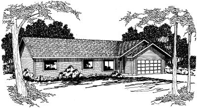 Ranch Style Floor Plans Plan: 17-363
