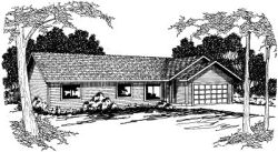 Ranch Style House Plans Plan: 17-363