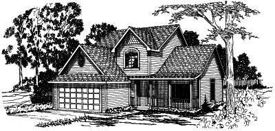 Country Style Floor Plans Plan: 17-364