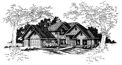 Traditional Style House Plans Plan: 17-366