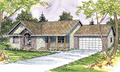 Traditional Style Home Design Plan: 17-367