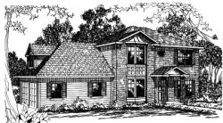 Traditional Style Home Design Plan: 17-368