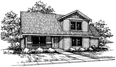 Country Style House Plans Plan: 17-373