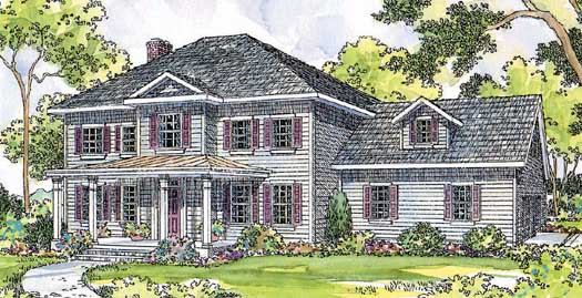 Southern-colonial Style House Plans Plan: 17-375