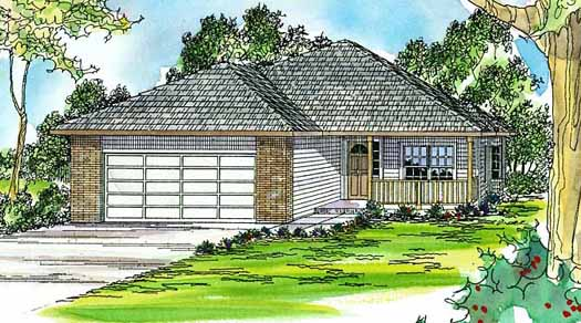 Traditional Style Home Design Plan: 17-380
