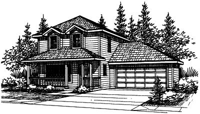 Northwest Style Floor Plans Plan: 17-382