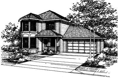 Northwest Style Home Design Plan: 17-383