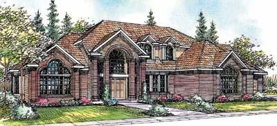 European Style House Plans Plan: 17-386