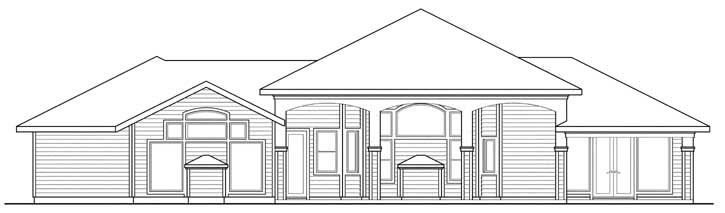 Rear Elevation Plan: 17-387