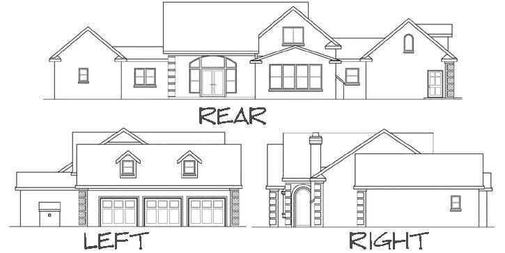 Rear Elevation Plan: 17-388
