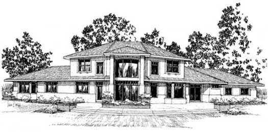 Mediterranean Style House Plans Plan: 17-390