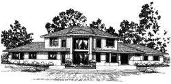 Mediterranean Style House Plans Plan: 17-390