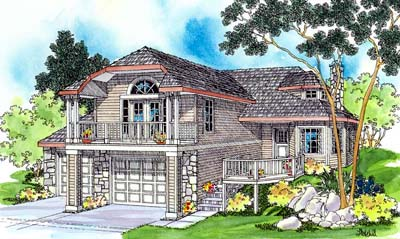 Northwest Style Floor Plans Plan: 17-391
