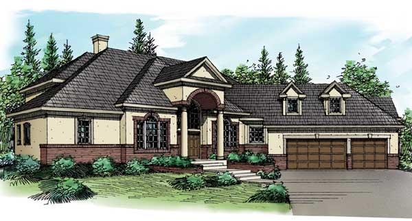 European Style House Plans Plan: 17-392