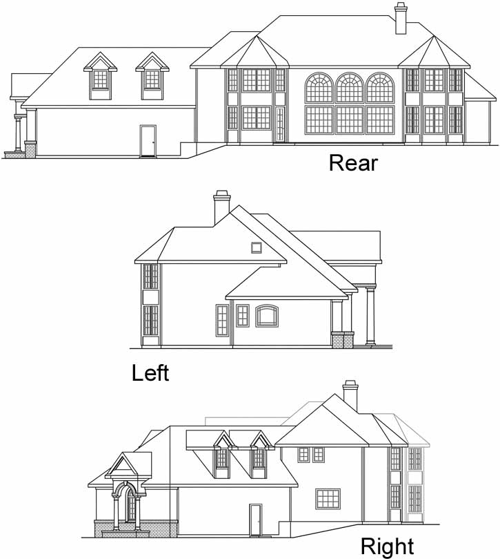 Rear Elevation Plan: 17-392