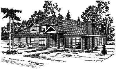 Northwest Style House Plans Plan: 17-393
