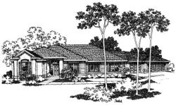 Southwest Style House Plans Plan: 17-396