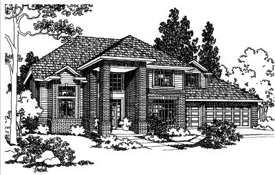 Traditional Style House Plans Plan: 17-398