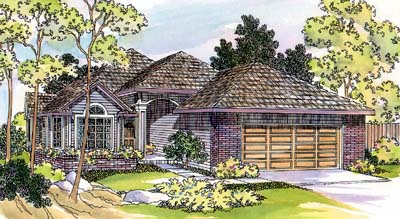 Traditional Style Home Design Plan: 17-399