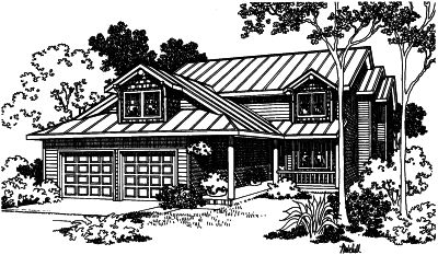 Country Style Floor Plans Plan: 17-404