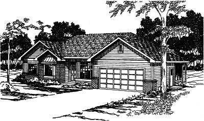 Traditional Style House Plans Plan: 17-405