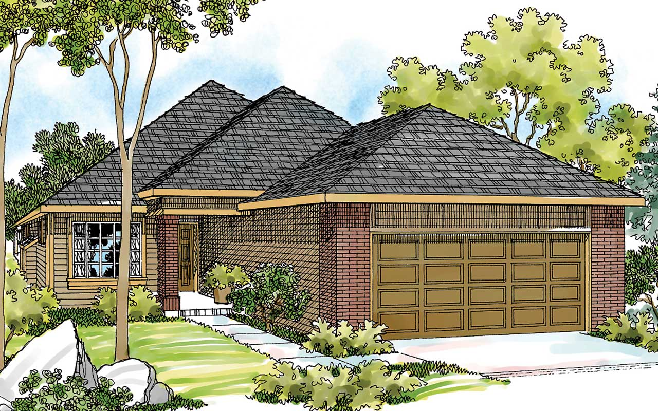Contemporary Style Home Design Plan: 17-407