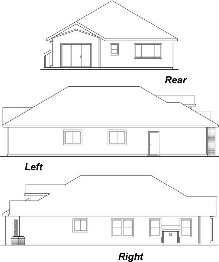 Rear Elevation Plan: 17-408