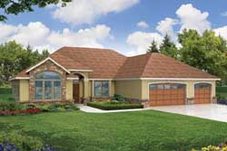 Contemporary Style House Plans 17-409