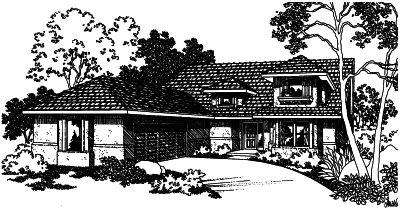 Mediterranean Style Home Design Plan: 17-410