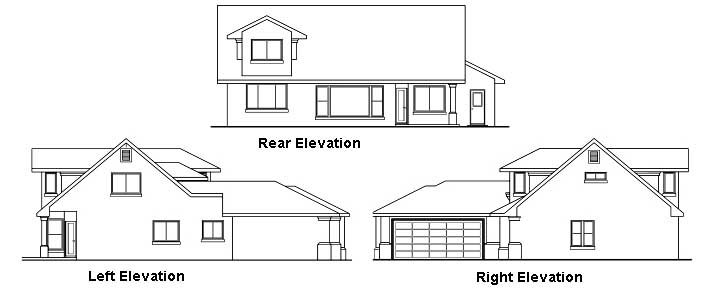 Rear Elevation Plan: 17-410